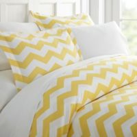 Arrow Twin Duvet Cover Set in Yellow