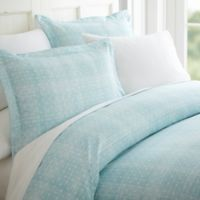 Polka Dot Twin Duvet Cover Set in Aqua