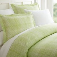Polka Dot Queen Duvet Cover Set in Moss