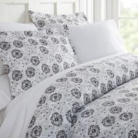 Make a Wish 3-Piece Twin Duvet Cover Set in Light Grey