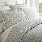 Wheatfield 3-Piece King Duvet Cover Set in Grey