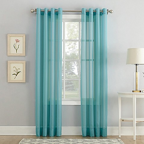 voile sheer grommet window curtain panel bed bath amp beyond 87866