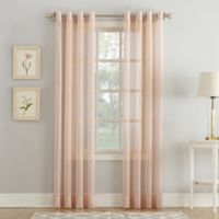 Sheer Voile 63-Inch Grommet Window Curtain Panel in Blush