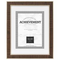 Eastonian 8.5-Inch x 11-Inch Wood Matted Wall Frame in Espresso with Brass