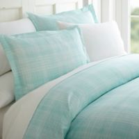 Thatch 3-Piece Twin Duvet Cover Set in Aqua