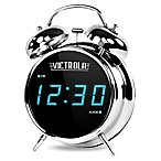Victrola™ Twin Bell Alarm Clock in Chrome