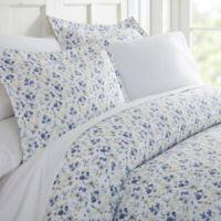 Blossoms 3-Piece King Duvet Cover Set in Light Blue