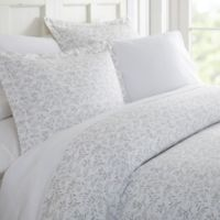 Home Collection Burst Vines Twin Duvet Cover Set in Light Grey