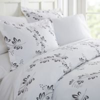 Home Collection Simple Vine Twin Duvet Cover Set in Grey