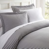 Home Collection Ribbon Twin Duvet Cover Set in Grey