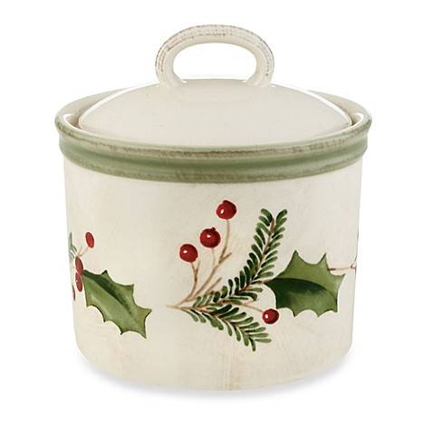 Lenox® Holiday Gatherings Holiday Berry Sugar Bowl