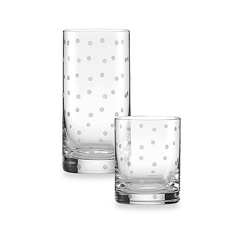 Kate spade new york larabee dot crystal glasses bed bath for Bed bath and beyond kate spade