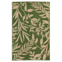 Tommy Bahama® Seaside Tropical Leaf 5'3 x 7'6 Indoor/Outdoor Area Rug in Green/Beige
