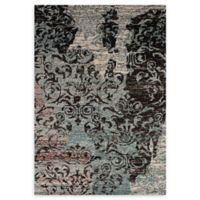 ECARPETGALLERY One of a Kind Sari Silk 5'2 x 7'6 Area Rug in Black/Grey