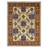 ECARPETGALLERY One of a Kind Royal Kazak 5'9 x 7'10 Hand-Knotted Area Rug in Cream
