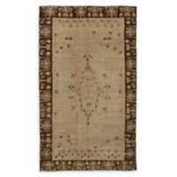 ECARPETGALLERY One of a Kind Antalya 4' x 8'3 Hand-Knotted Area Rug in Vintage Khaki