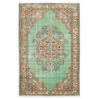 ECARPETGALLERY One of a Kind Melis 6'1 x 9'6 Hand-Knotted Area Rug in Vintage Green