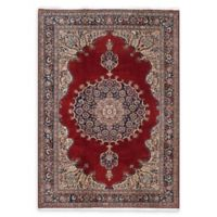 "ECARPETGALLERY Hereke 6'11"" x 10'1"" Hand-Knotted Area Rug in Dark Red"