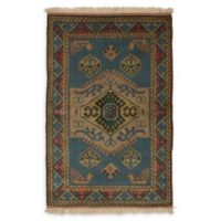 """ECARPETGALLERY Antique Shiravan 3'10"""" x 5'10"""" Hand-Knotted Area Rug in Turquoise"""