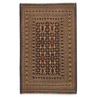 "ECARPETGALLERY Shiravan Sumak 4'2"" x 6'8"" Hand-Woven Area Rug in Ivory"