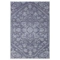 "ECARPETGALLERY Eternity Hand-Knotted 5' x 7'6"" Area Rug in Dark Grey"
