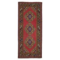 """ECARPETGALLERY Konya Anatolian 4'8"""" x 11'4"""" Hand-Knotted Area Rug in Red"""