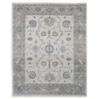 ECARPETGALLERY One of a Kind Finest Ushak 8' x 9'11 Hand-Knotted Rug in Light Grey