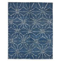 ECARPETGALLERY One of a Kind Eternity 7'9 x 9'9 Hand-Knotted Area Rug in Dark Blue