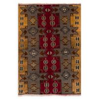 ECARPETGALLERY One of a Kind Anatolian Konya 5'2 x 7'5 Hand-Knotted Rug in Red/Grey