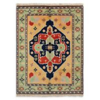 """ECARPETGALLERY Anatolian Konya Hand-Knotted 5'7"""" x 7'8"""" Area Rug in Copper/Green"""