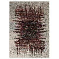 """ECARPETGALLERY Sari Silk 5'3"""" x 7'6"""" Area Rug in Cream/Dark Red"""