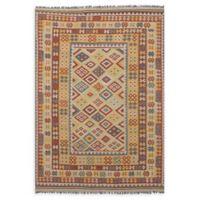 """ECARPETGALLERY Anatolian 6'8"""" x 9'9"""" Area Rug in Cream/Dark Copper"""