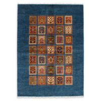 "ECARPETGALLERY Aryana 5'7"" x 8'1"" Hand-Knotted Area Rug in Dark Blue"