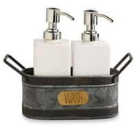 Mud Pie® 3-Piece Galvanized Tin Soap Caddy Set