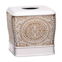 Popular Bath Cascade Boutique Tissue Box Cover in Beige