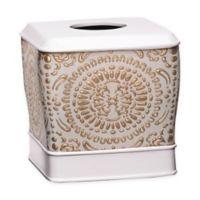 Popular Bath Cascade Boutique Tissue Box Cover in Beige