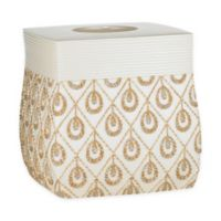 Popular Bath Seraphina Boutique Tissue Box Cover in Beige/Gold