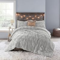 Anthology Chevron Tufted Twin Twin Xl Comforter Set In Light Grey