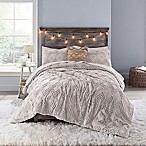Anthology™ Chevron Tufted Queen Comforter Set in Mauve