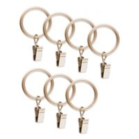 Traditional Acrylic Window Curtain Clip Rings in Gold (Set of 7)