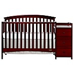 Dream On Me Niko 5-in-1 Convertible Crib and Changer in Cherry
