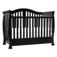 Dream On Me Addison 5-in-1 Convertible Crib with Storage in Black