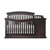 Sorelle Sedona 4-in-1 Convertible Crib and Changer in Espresso