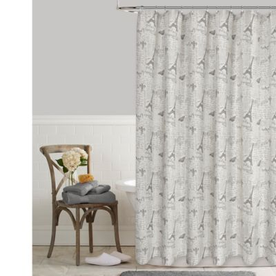 Charming Postale Tower Print 72 Inch X 96 Inch Shower Curtain