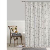 Postale Eiffel Tower Shower Curtain
