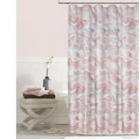 Colordrift Marble Shower Curtain in Blush
