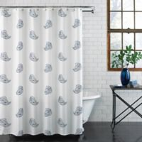 Paisley Shower Curtain in Blue