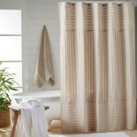 DKNY Pure Pintuck Shower Curtain In Pink Oatmeal