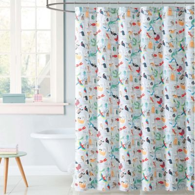 Charmant Laura Hart Kids Animal Alphabet Shower Curtain