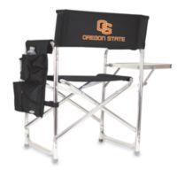 Picnic Time® Oregon State Collegiate Folding Sports Chair in Black